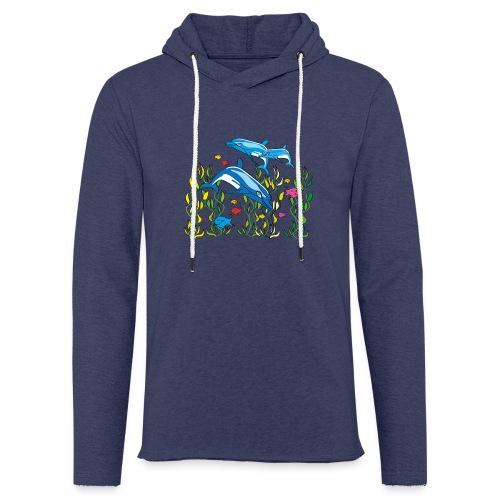 Delfine - Leichtes Kapuzensweatshirt Unisex