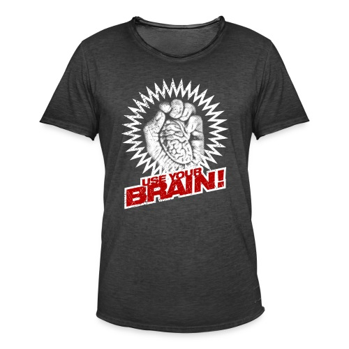 Use Your Brain! - Männer Vintage T-Shirt