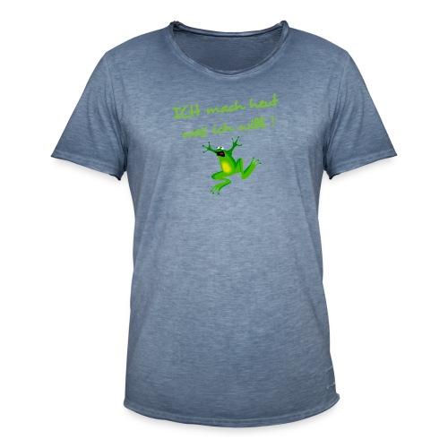 Frosch - Männer Vintage T-Shirt