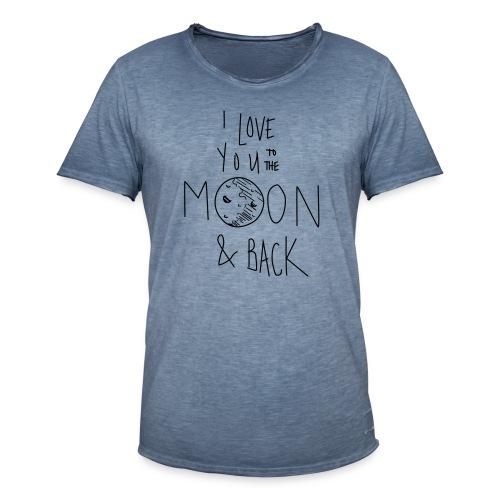 Liebe bis zum Mond... - Männer Vintage T-Shirt