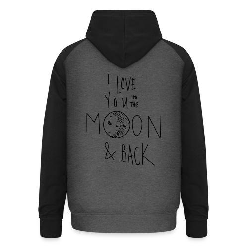 Liebe bis zum Mond... - Unisex Baseball Hoodie