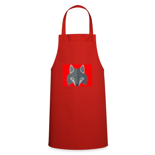 Men Red Wolf Channel Hoodie - Cooking Apron
