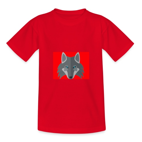 Men Red Wolf Channel Hoodie - Kids' T-Shirt