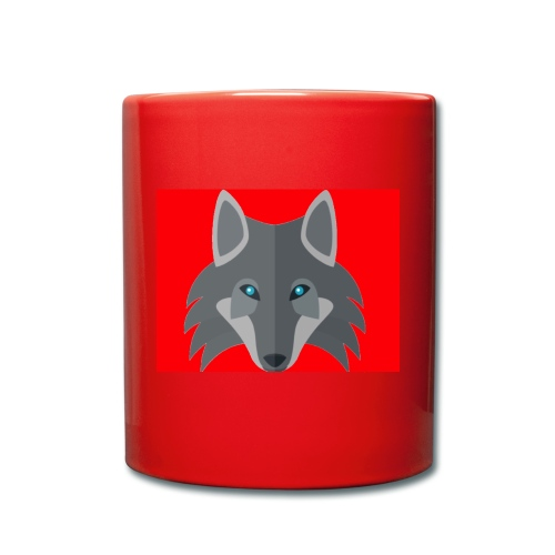 Men Red Wolf Channel Hoodie - Full Colour Mug
