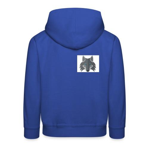 Men Blue Wolf channel Hoodie  - Kids' Premium Hoodie