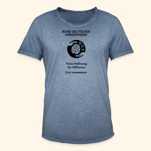 BDH - Bund deutscher Hirnspender - Männer Vintage T-Shirt
