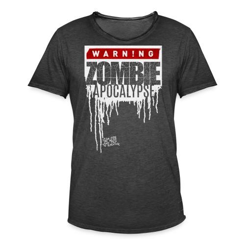 Warning Zombie Apocalypse - Männer Vintage T-Shirt