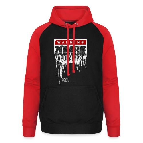 Warning Zombie Apocalypse - Unisex Baseball Hoodie