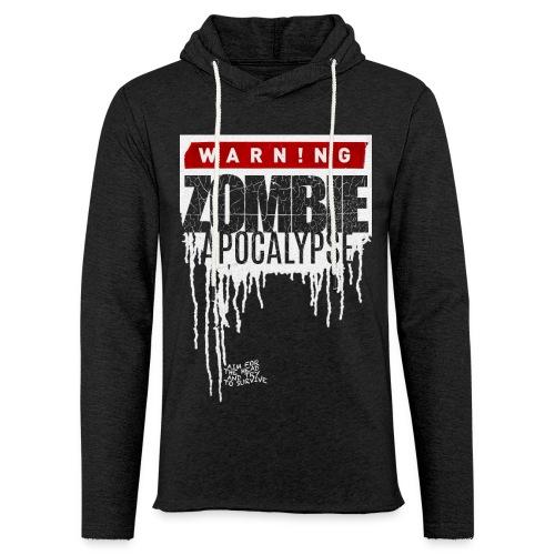 Warning Zombie Apocalypse - Leichtes Kapuzensweatshirt Unisex