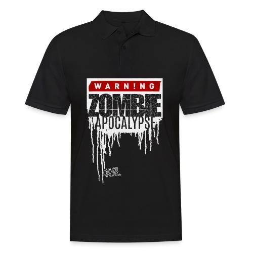 Warning Zombie Apocalypse - Männer Poloshirt