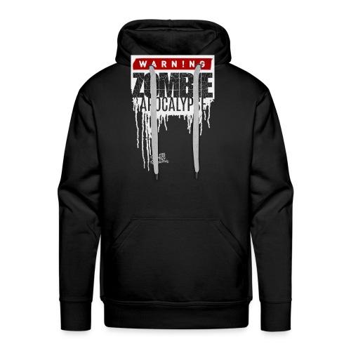 Warning Zombie Apocalypse - Männer Premium Hoodie