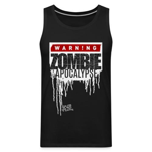 Warning Zombie Apocalypse - Männer Premium Tank Top
