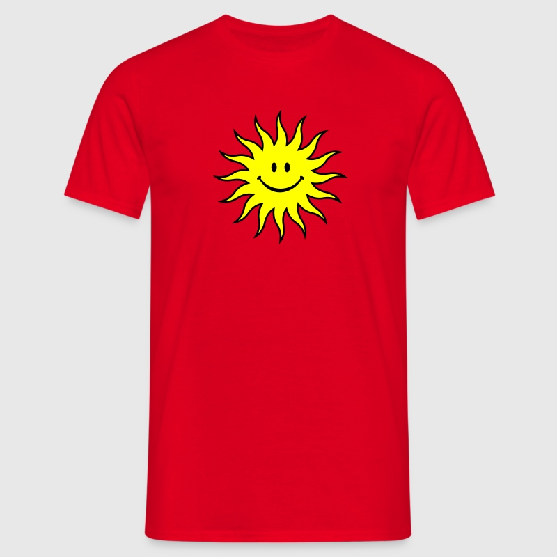 Smiley Sonne T-Shirts - Männer T-Shirt