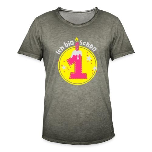 ich bin schon Eins - Männer Vintage T-Shirt