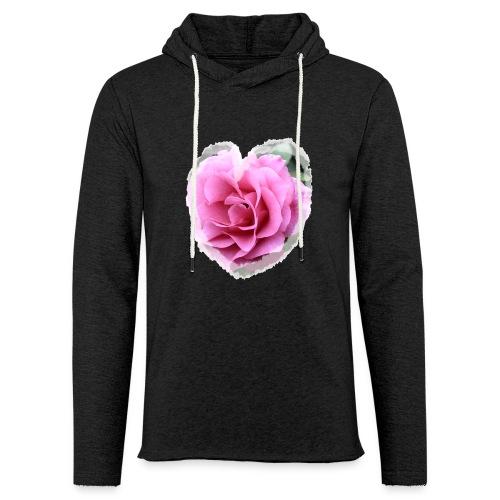 Herz-Liebe - Leichtes Kapuzensweatshirt Unisex