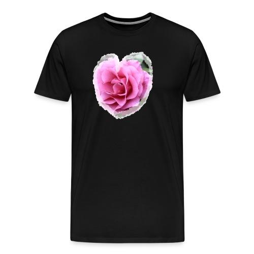 Herz-Liebe - Männer Premium T-Shirt