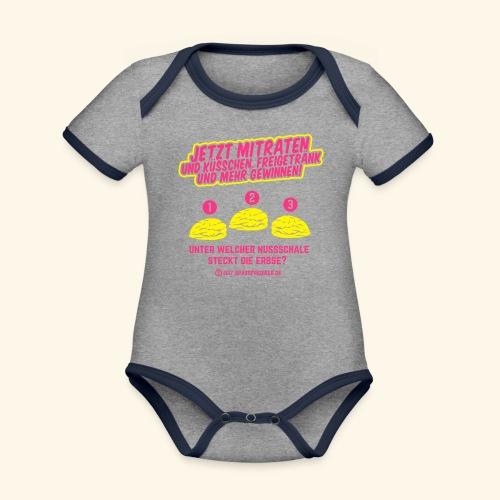 lustiges Flirt-Shirt Hütchenspiel - Baby Bio-Kurzarm-Kontrastbody