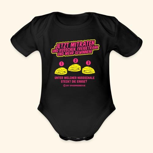 lustiges Flirt-Shirt Hütchenspiel - Baby Bio-Kurzarm-Body