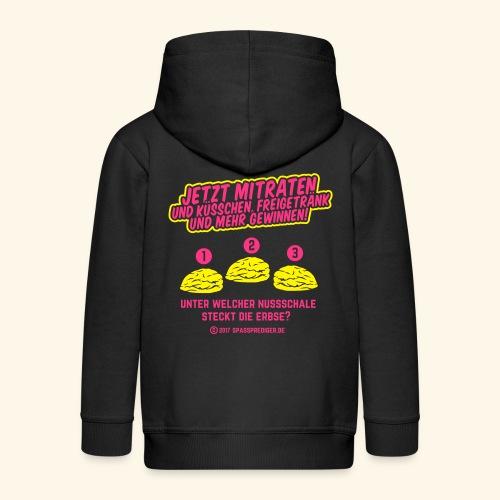 lustiges Flirt-Shirt Hütchenspiel - Kinder Premium Kapuzenjacke