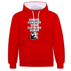 POMPIER, J'AIME BIEN QUAND IL N'Y A PAS LE FEU - JEUX DE MOTS - FRANCOIS VILLE - Sweat-shirt contraste