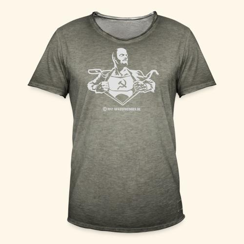 Lenin, Superheld der Arbeit - Männer Vintage T-Shirt