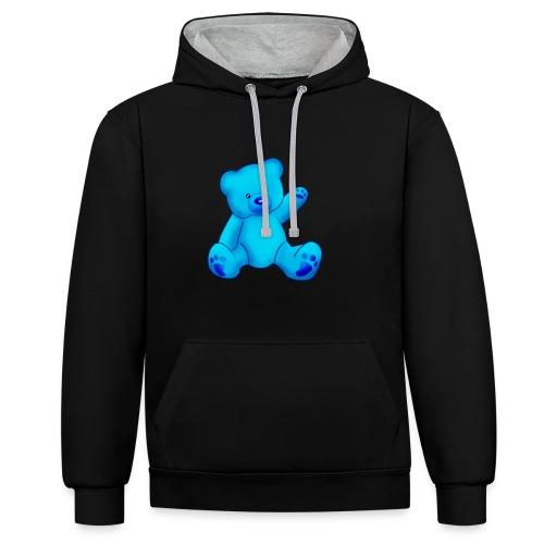 T-shirt Ourson bleu  - Sweat-shirt contraste