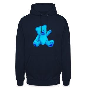 T-shirt Ourson bleu  - Sweat-shirt à capuche unisexe