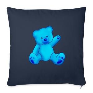 T-shirt Ourson bleu  - Housse de coussin décorative 44x 44cm