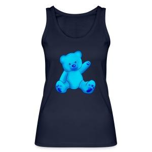 T-shirt Ourson bleu  - Débardeur bio Femme