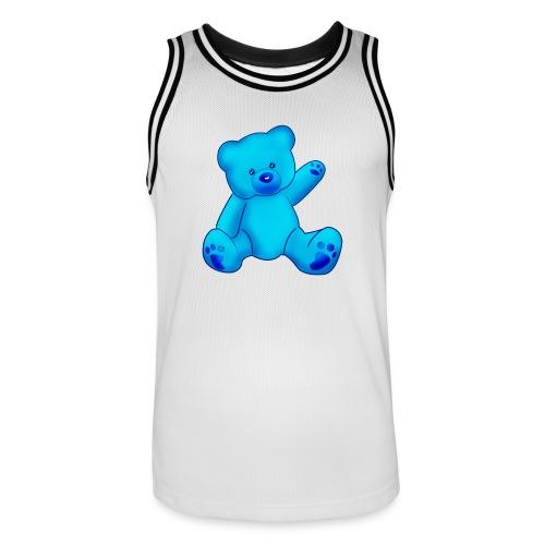T-shirt Ourson bleu  - Maillot de basket Homme