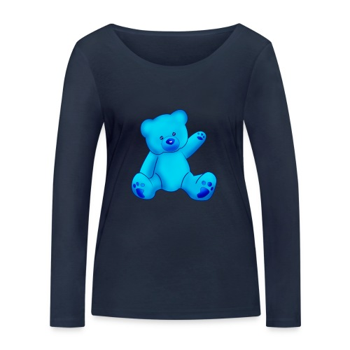 T-shirt Ourson bleu  - T-shirt manches longues bio Stanley & Stella Femme