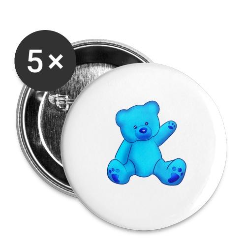T-shirt Ourson bleu  - Badge petit 25 mm