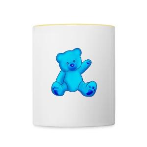 T-shirt Ourson bleu  - Mug contrasté