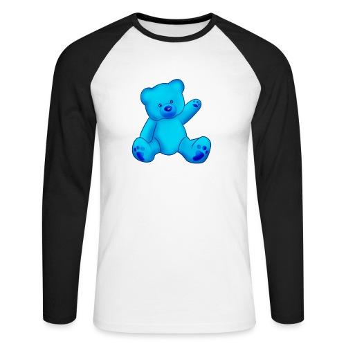 T-shirt Ourson bleu  - T-shirt baseball manches longues Homme