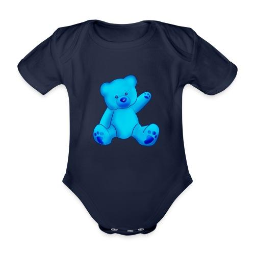 T-shirt Ourson bleu  - Body bébé bio manches courtes