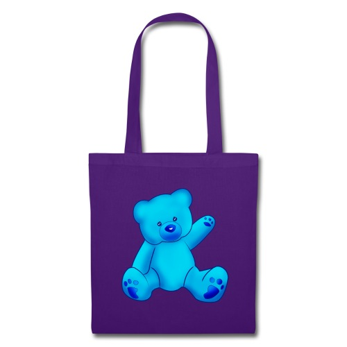 T-shirt Ourson bleu  - Tote Bag
