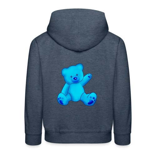 T-shirt Ourson bleu  - Pull à capuche Premium Enfant