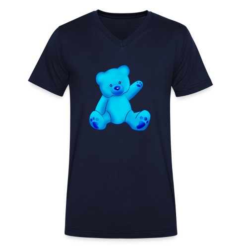 T-shirt Ourson bleu  - T-shirt bio col V Stanley & Stella Homme