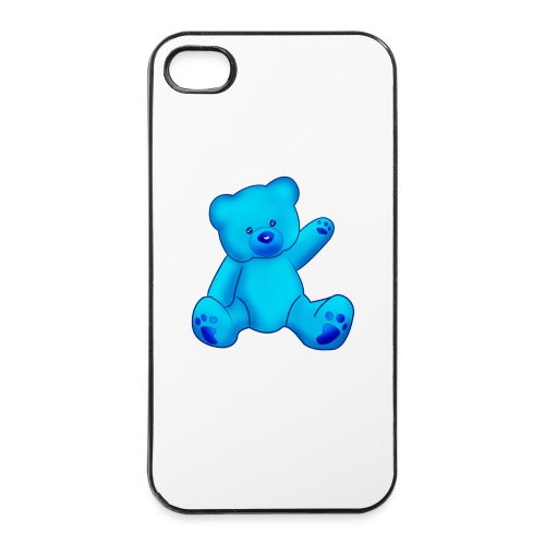 T-shirt Ourson bleu  - Coque rigide iPhone 4/4s