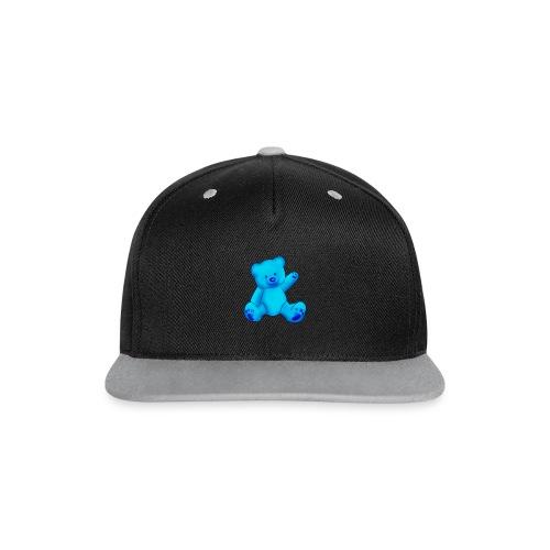 T-shirt Ourson bleu  - Casquette Snapback contrastée