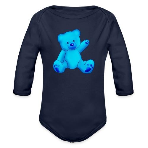 T-shirt Ourson bleu  - Body bébé bio manches longues