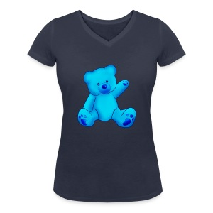 T-shirt Ourson bleu  - T-shirt bio col V Stanley & Stella Femme