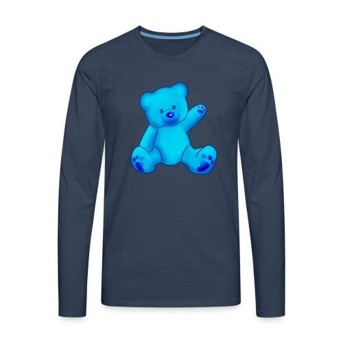 T-shirt Ourson bleu  - T-shirt manches longues Premium Homme