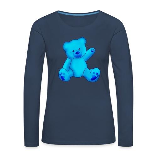 T-shirt Ourson bleu  - T-shirt manches longues Premium Femme