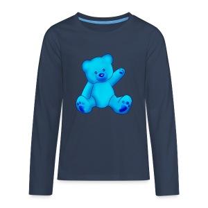 T-shirt Ourson bleu  - T-shirt manches longues Premium Ado