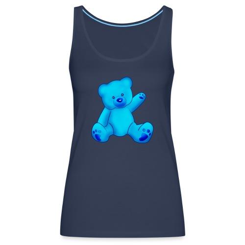 T-shirt Ourson bleu  - Débardeur Premium Femme