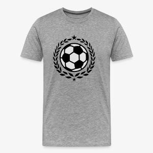 Team Fussball Fußball Fan Lorbeerkranz T-Shirt - Männer Premium T-Shirt