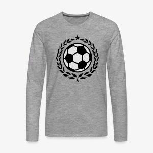 Team Fussball Fußball Fan Lorbeerkranz T-Shirt - Männer Premium Langarmshirt