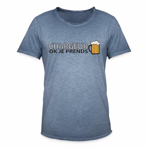 Homme Premium Chargeur Bière - T-shirt vintage Homme