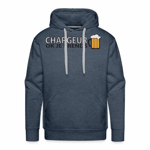Homme Premium Chargeur Bière - Sweat-shirt à capuche Premium pour hommes